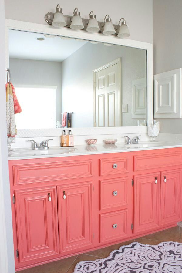 Great idea for a little girls room! Painted golden oak dated cabinet