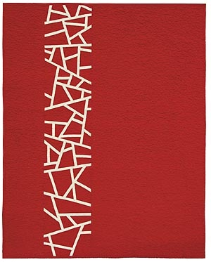 """""""Lace"""", c. FunQuilts. The intricate """"lacework"""" of this striking quilt is created improvisationally."""