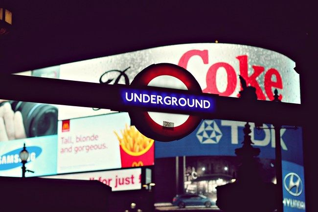 London, england, piccadilly circus, underground