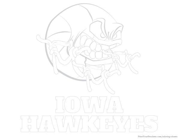 Iowa Hawkeyes Basketball Coloring Sheet - Printable