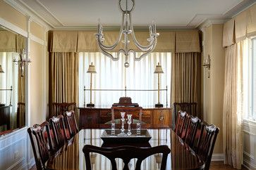 Formal dining room window treatment home decor pinterest for Formal dining room window treatments