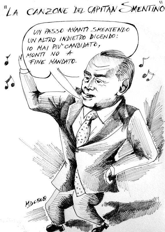 #VIGNETTA: #Berlusconi e la canzone del Capitan Smentino