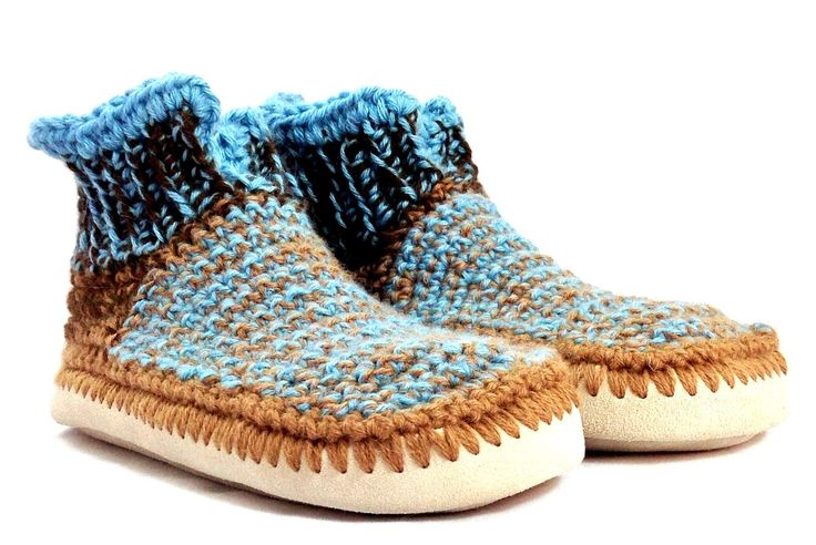 Alpaca Slippers with Leather Soles