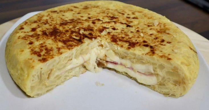 Tortilla de patata rellena: tortilla sándwich