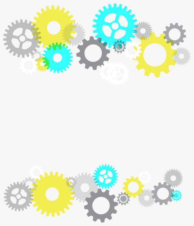 Color gear decoration vector PNG and Vector