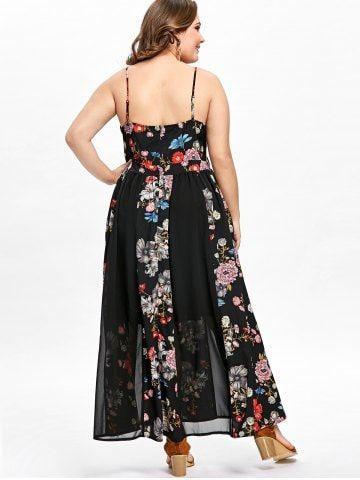 67810b6fda03 Plus Size Bohemian Floral Flowing Slip Dress | Dresses! in 2019 ...