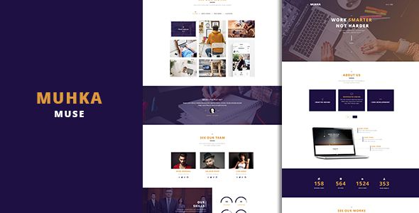 Muhka - Multi-Use One page Muse Template