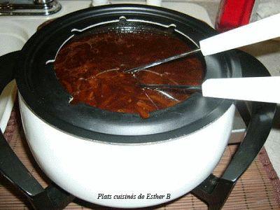 Les plats cuisinés de Esther B: Bouillon fondue chinoise