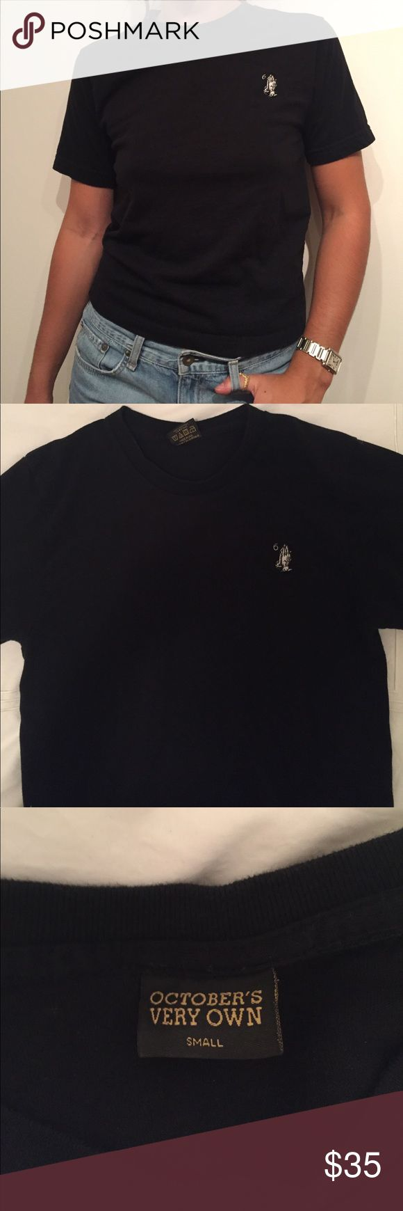 OVO October's Very Own T Shirt Drake OVO black short sleeve t shirt with 6 hands on top right corner. Size small. Runs true to size. Excellent condition rarely worn October's Very Own Tops Tees - Short Sleeve