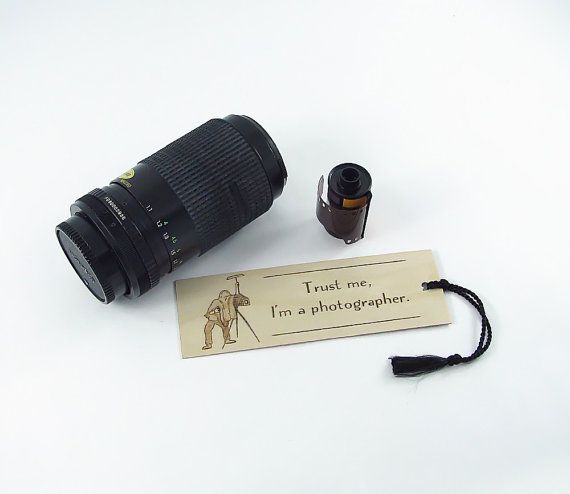 Old Fashioned Camera Wooden Bookmark  Hand by bkinspired on Etsy, $7.00