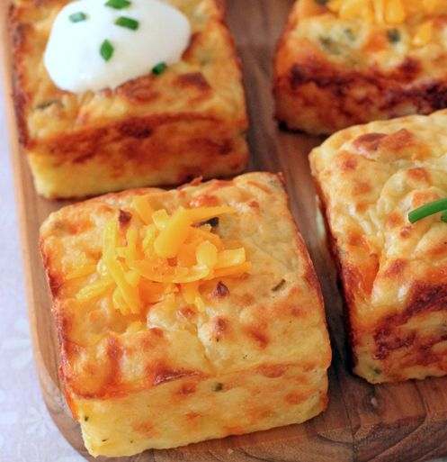 Mashed Potato Puffs - leftover mashed potatoes? Not any more ;)