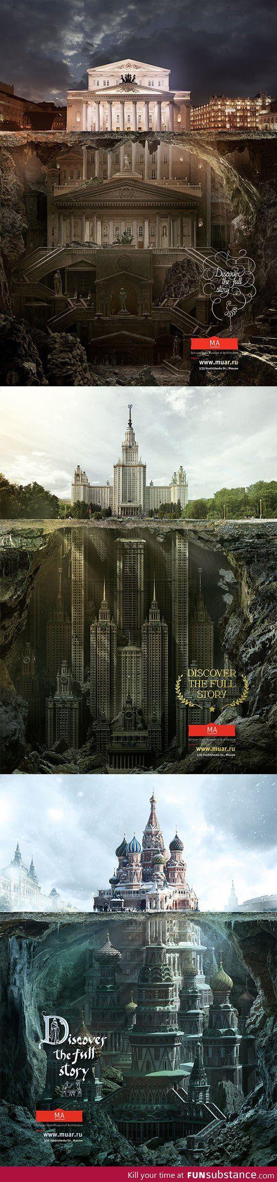Secret structures under iconic buildings