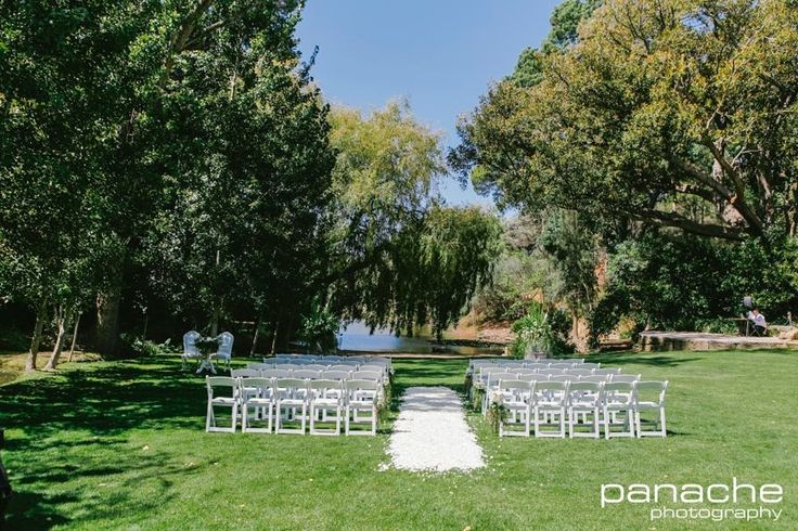 Ceremony setup. Pulp Shed lawns. #GlenEwinEstate #Weddings #bridal #adelaidehills #photos #Pulpshed #weddingceremonies