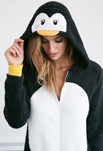 Plush Penguin Jumpsuit   Forever 21 - 2000141579