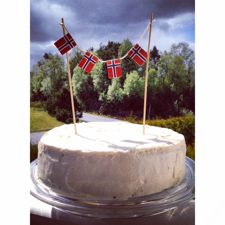 17. Mai kake National constitution day Norway Red Velvet cake