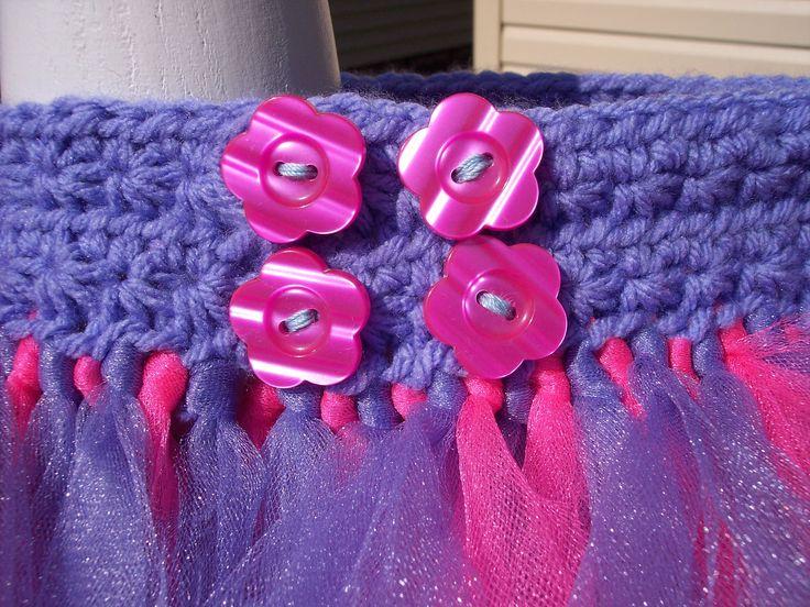 button crochet tutu