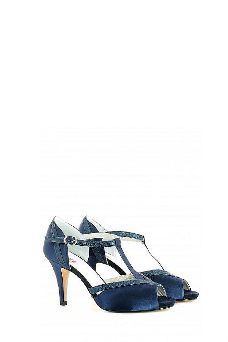 Trova Da Donna Cinturino Alla Caviglia Tacchi a Spillo con TBar mesh e a spillo blu 6 UK