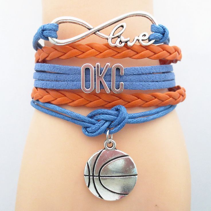 Infinity Love OKC Basketball - Show off your teams colors! Cutest Love OKC Bracelet on the Planet! Don't miss our Special Sales Event. Many teams available. www.DilyDalee.co
