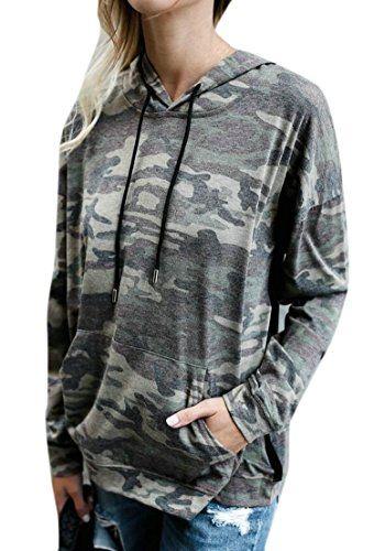 899ada11 MLG Womens Thin Athletic Camo Printed Pullover Hooded Sweatshirts Camo XL