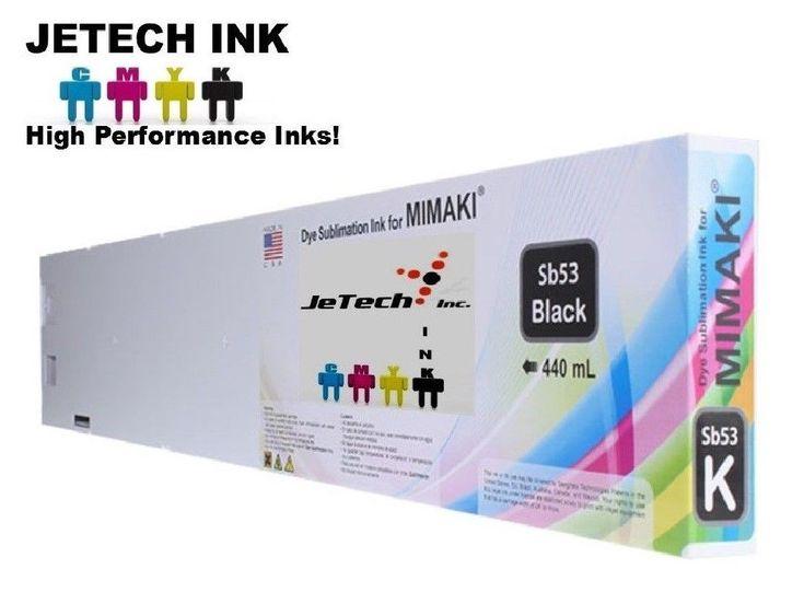 Mimaki Dye Sublimation SB53 440ml Compatible Ink Cartridge - Black #JeTechInk