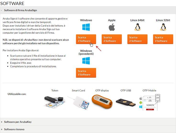 Installazione e Avvio Software Aruba Sign | Guide pec.it