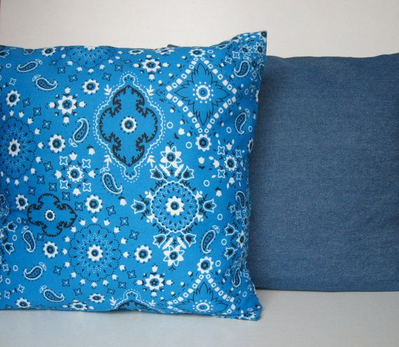Pillow Cover Set Set of Two 14x14 Denim Pillow Cover