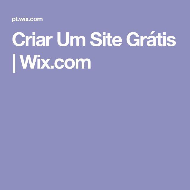 Criar Um Site Grátis | Wix.com