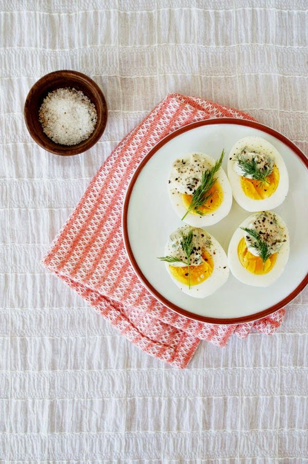 Shop This: Foodie Friday: Eggs-celent Recipes To Dye For: Eggs with Mustard Dill Cream