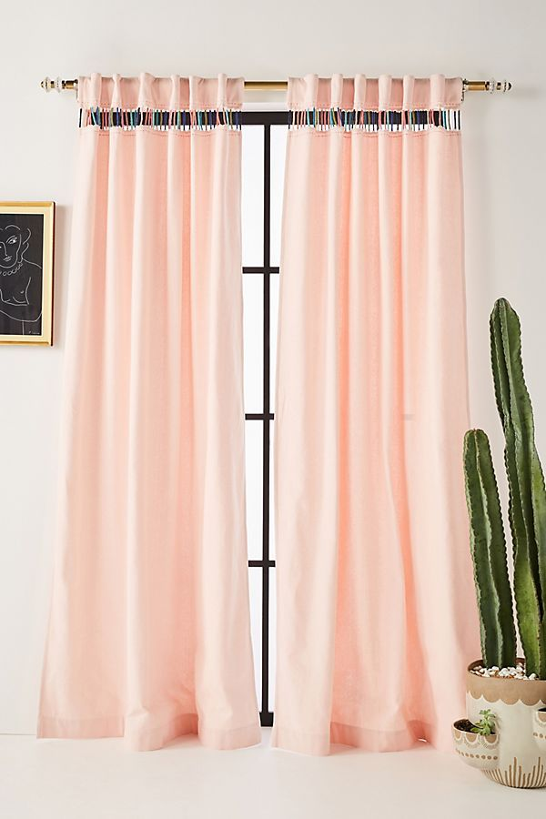Gramercy Curtain Rod Set Peach Curtains Anthropologie Curtains