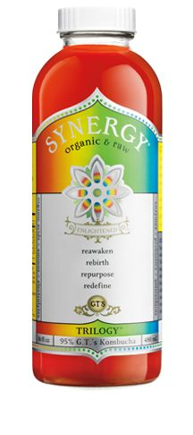 GT's Kombucha - fermented tea mixed with fruit purée, it's yummy and so good for you!