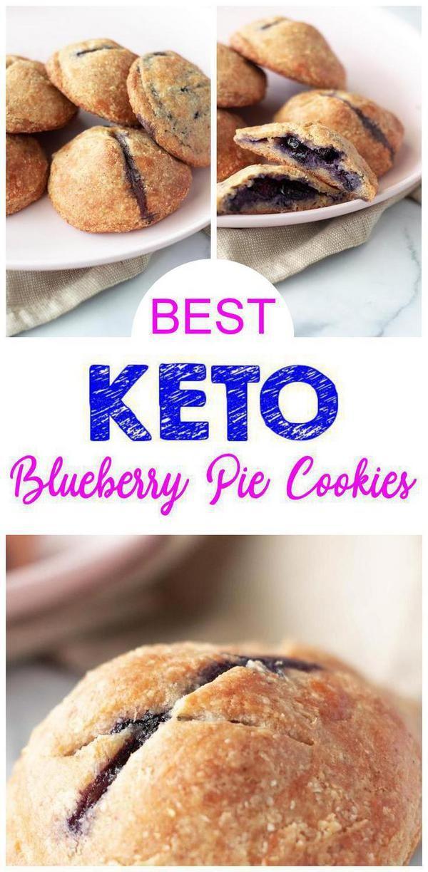 Echa un vistazo a estas galletas keto Blueberry Pie. Galletas sabrosas y deliciosas de tarta de arándanos …