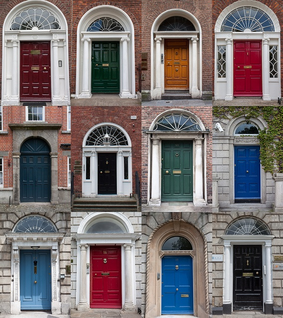 Dublin Doors - Dublin's decorative and multicoloured doors to helped, it is said, the rather worse for wear Georgian gentlemen identify their homes after an evening of revelry