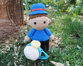 Chinchinero doll - Amigurumi doll, Crochet doll, Stuffed toy, Hand knitted doll. Chilean traditions, Chile, chilean people