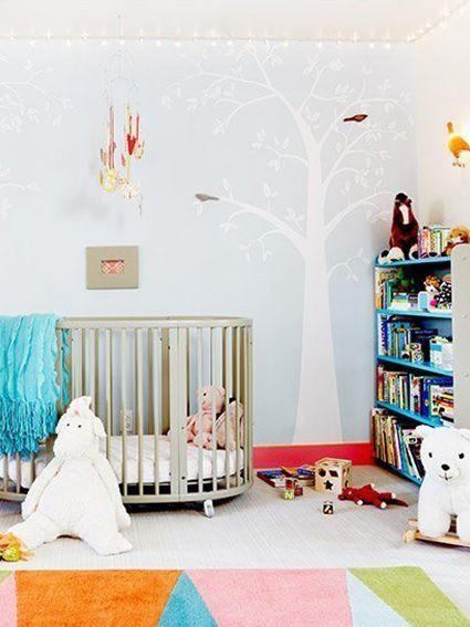 light and airy modern nursery - Modern Baby Cribs
