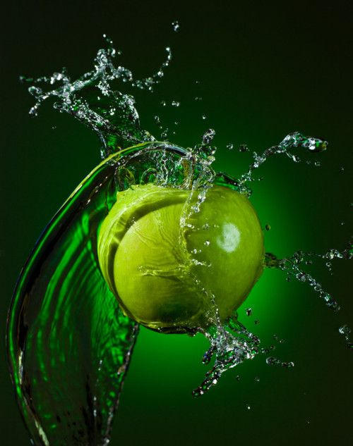 Splashed green apple.  I love this!