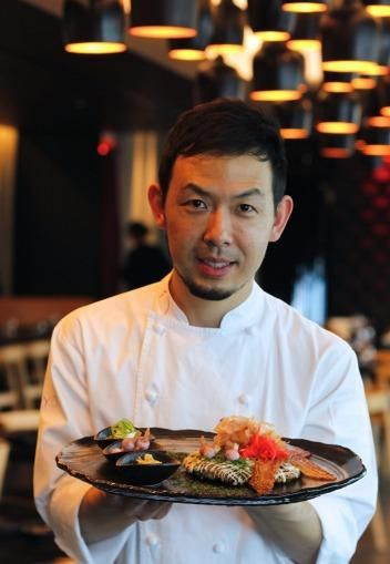 Chase Kojima with his take on the Japanese pancake.