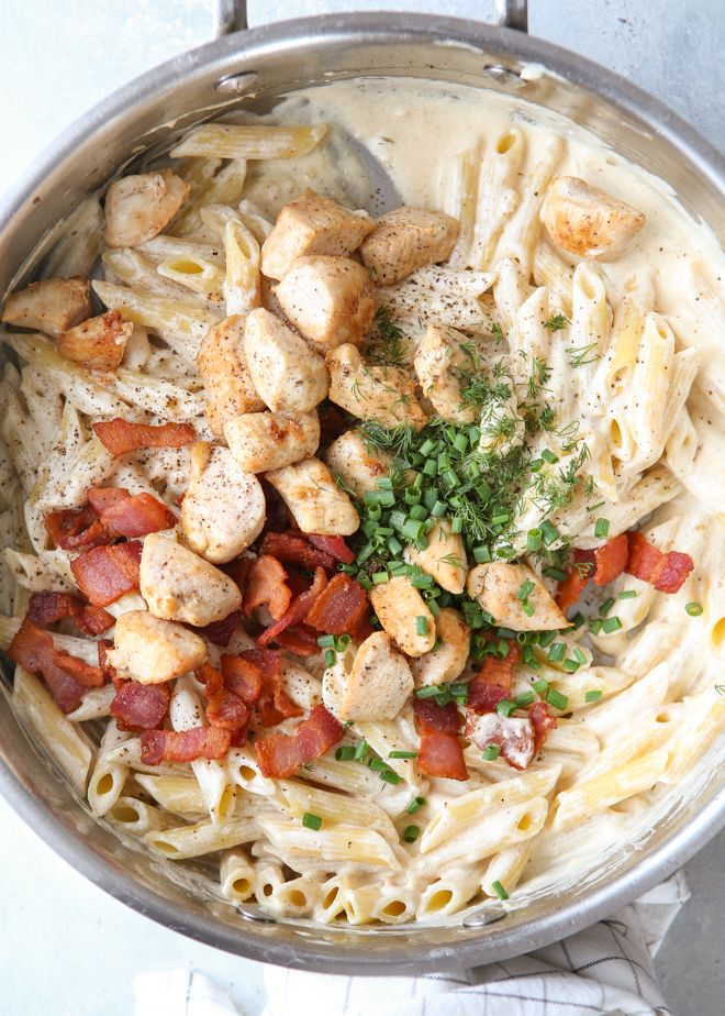 Chicken Bacon Ranch Pasta Completely Delicious Recipe In 2020 Chicken Bacon Ranch Pasta Ranch Pasta Easy Pasta Dishes