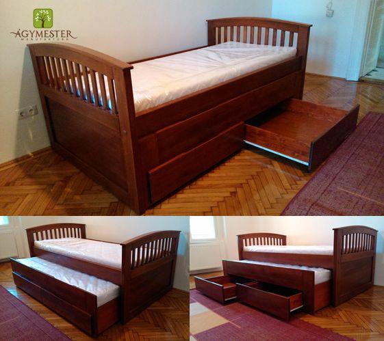 Ágymester ágy, fiókok és vendégágy