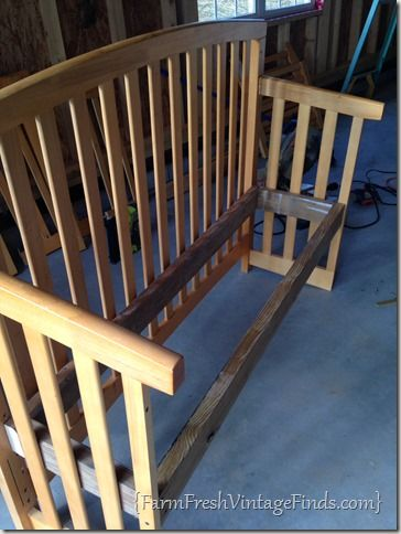 Turning a Crib Into a Bench