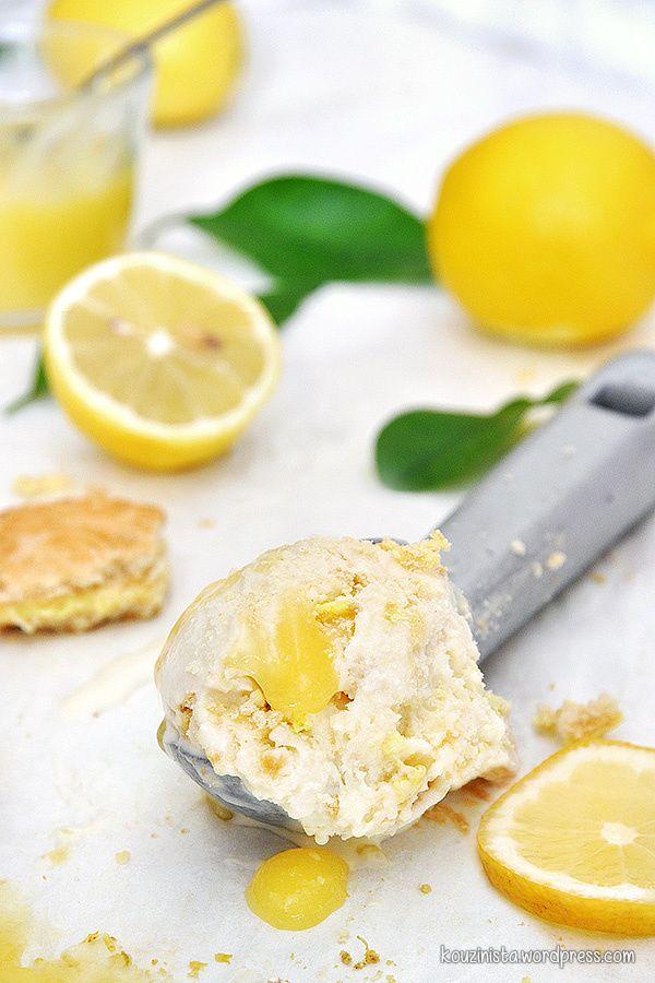 Παγωτό lemon pie xωρίς παγωτομηχανή /No-churn lemon pie ice cream