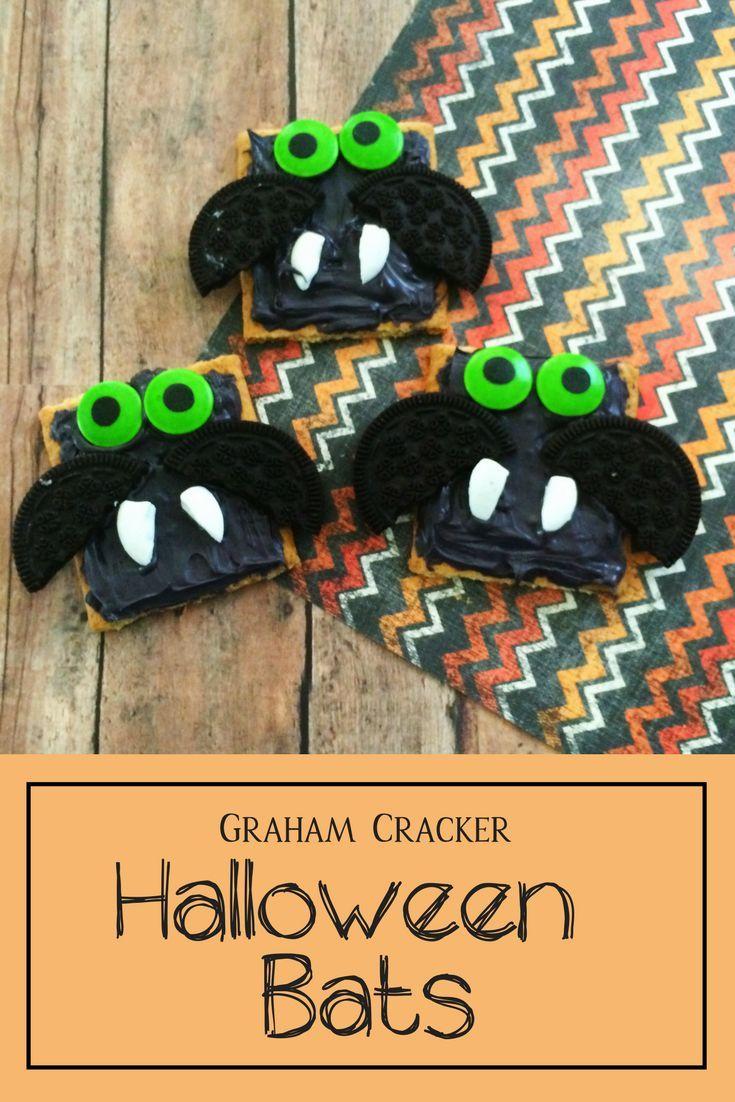 Graham Cracker Bats For Halloween - By Robyn Good via Celeb Baby Laundry
