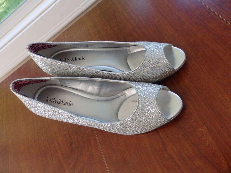 Silver Pumps, Kelly & Katie Doreen, Prom Shoes, Women , Size 9 1/2 #KellyKatie #OpenToe