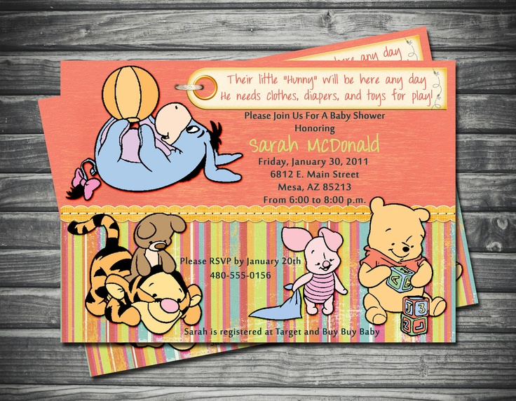 92 best baby shower images on pinterest birthdays anniversary baby winnie the pooh friends baby shower invitation by sassygfx 18 filmwisefo Images
