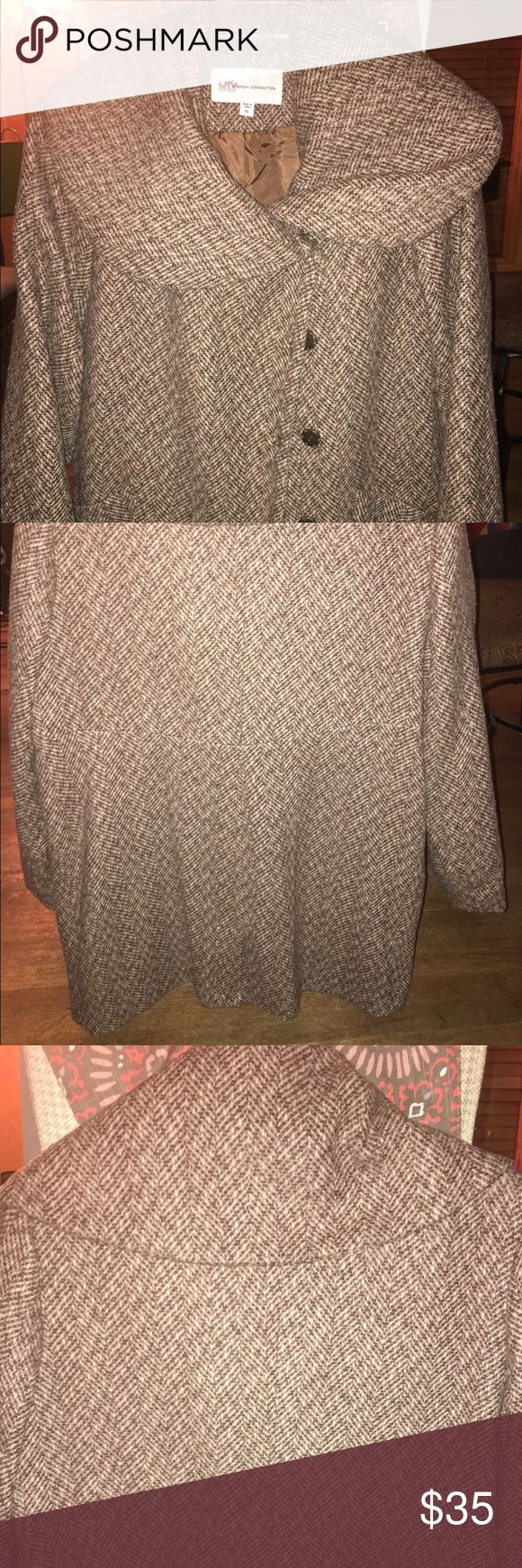 Over size UK style by French connection Coat Women's plus size coat. NWOT. UK style by French connection Jackets & Coats Pea Coats
