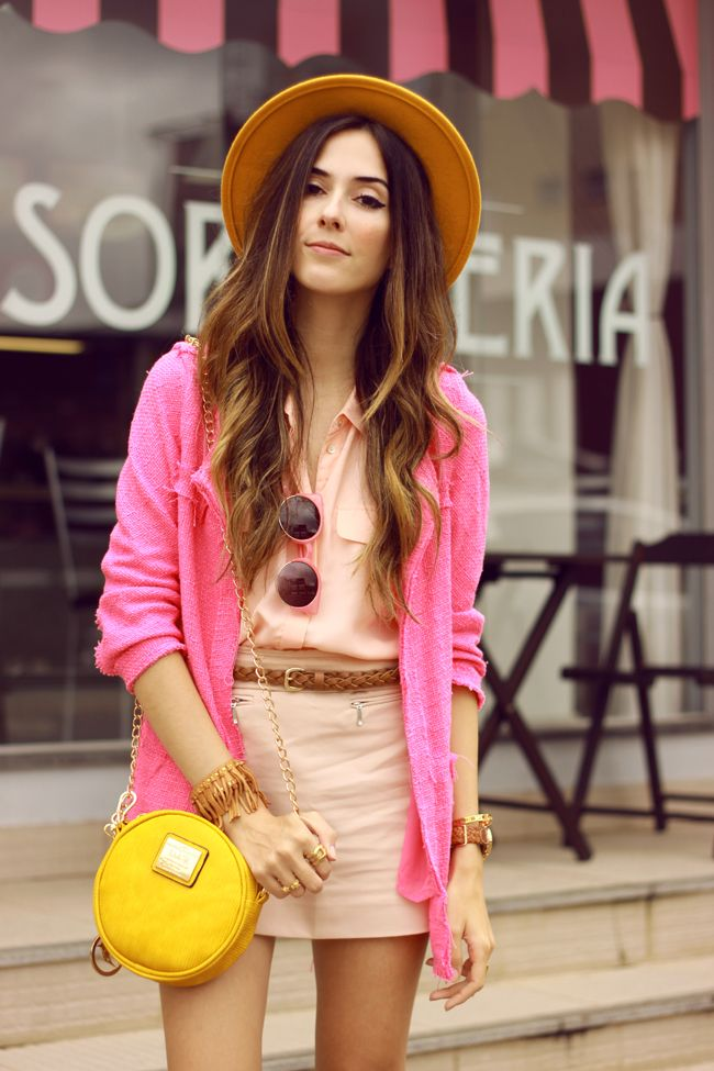 FashionCoolture - 11/26/2015 look du jour Dafiti pink outfit girly yellow bag (2)
