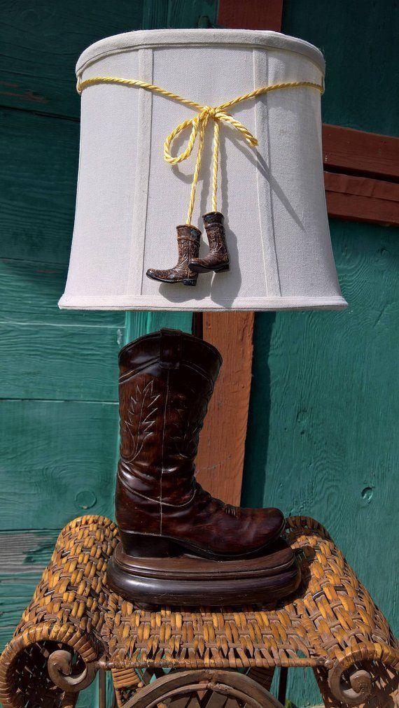 Vintage Cowboy Boot Lamp Vintage Cowboy Boots Vintage Vintage Lamps