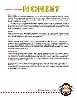 Monkey on pinterest chinese zodiac signs chinese zodiac and monkey