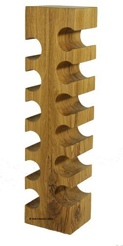 Solid Oak Wine Rack - Oak furniture in London.