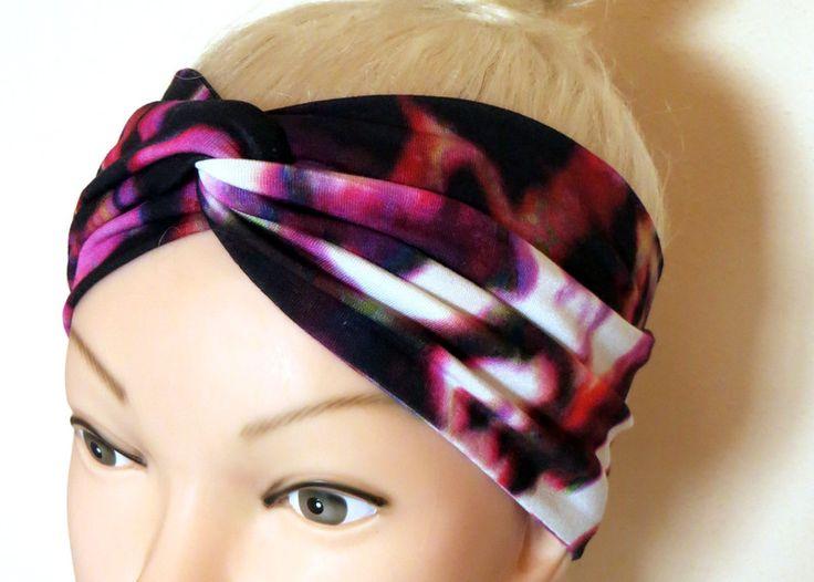 Fasce per capelli - Fascia per capelli Turbante Jersey - un prodotto unico di Maiblume-fiore-di-maggio su DaWanda