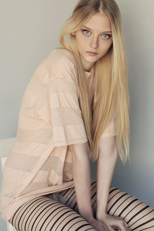 An imagining of Luna, chillin' in her PJs. (model Nastya Kusakina)